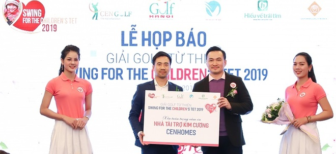 Giai golf tu thien Swing for the children's thu hut hon 150 golfer hinh anh 1