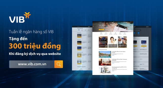 Tang den 300 trieu dong khi dang ky san pham qua website VIB hinh anh 1