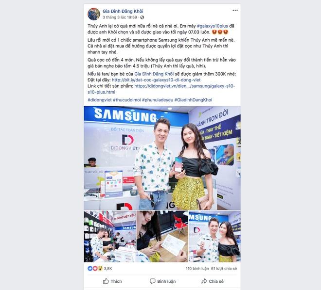 Ca si Dang Khoi dat mua Galaxy S10 Plus tang vo ngay 8/3 hinh anh 3