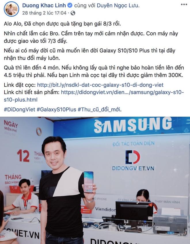Sao Viet hao huc chon Galaxy S10, S10 Plus lam qua tang 8/3 hinh anh 5