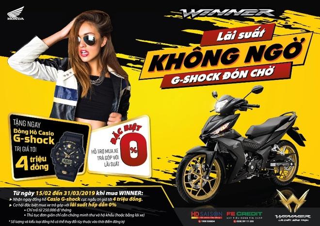 Mua Honda Winner 150 huong 'lai suat khong ngo, G-shock don cho' hinh anh 2