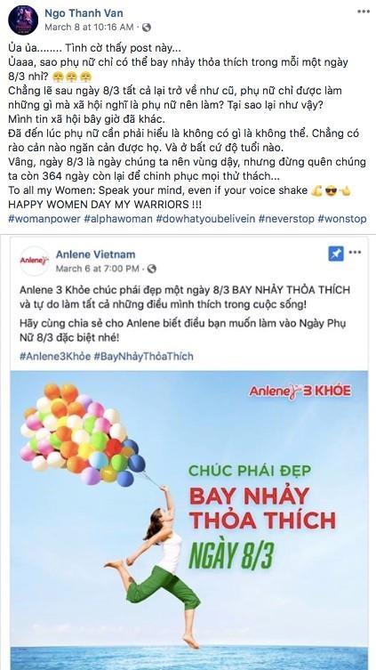 Phan ung cua hang sua khi Ngo Thanh Van gop y ve 'tinh than bay nhay' hinh anh 1