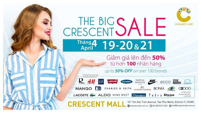 Su kien giam gia 3 ngay lien tuc tai Crescent Mall hinh anh 1