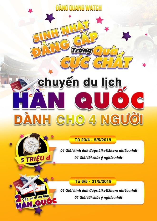 Mung sinh nhat 10 nam, Dang Quang tang khach 4 chuyen di Han Quoc hinh anh 1