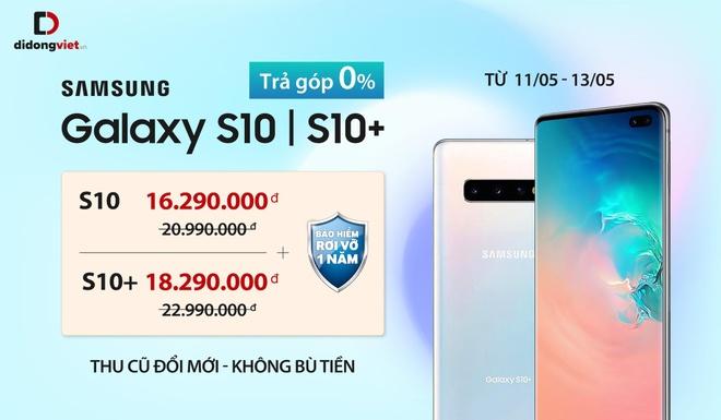 Samsung Galaxy S10, S10+ giam 5 trieu dong tai Di Dong Viet hinh anh 1