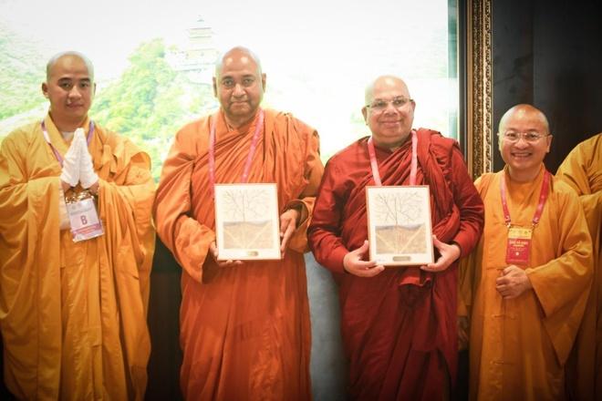 Chu tich thuong vien Bhutan xuc dong khi duoc tang tranh o Vesak 2019 hinh anh 4