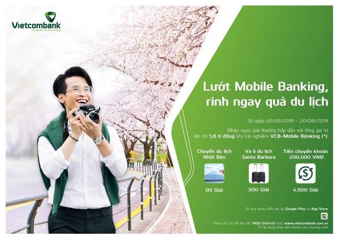 'Luot mobile b@nking - Rinh ngay qua du lich' cung Vietcombank hinh anh 1