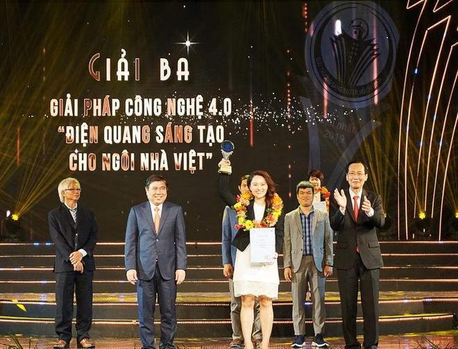 Công ty Điện Quang nhận giải thưởng Sáng tạo TP.HCM năm 2019