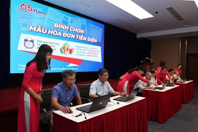 EVN phat dong chuong trinh 'Binh chon mau hoa don tien dien' hinh anh 1