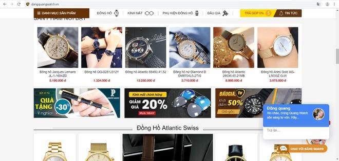 Dang Quang Watch uu dai 25% dip nang cap showroom va giao dien website hinh anh 1