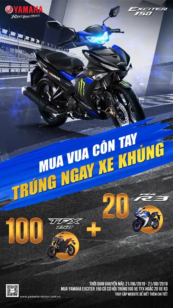 Yamaha tang hang tram moto the thao TFX va R3 cho khach hang hinh anh 3
