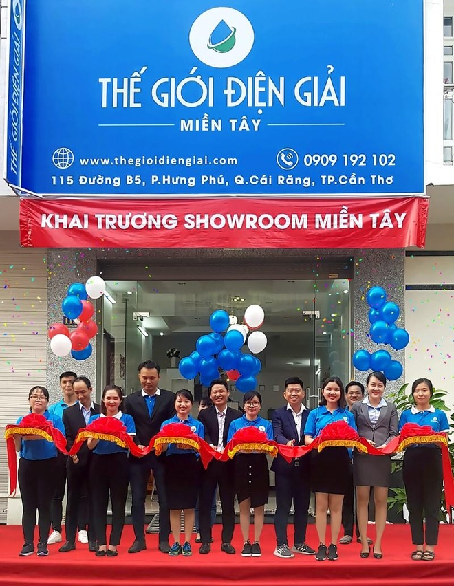 The Gioi Dien Giai khai truong showroom may loc nuoc hydrogen Can Tho hinh anh 1