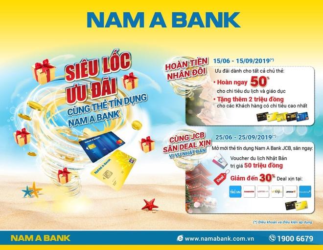 Mo the tin dung Nam A Bank JCB, nhan voucher du lich Nhat Ban 50 trieu hinh anh 1