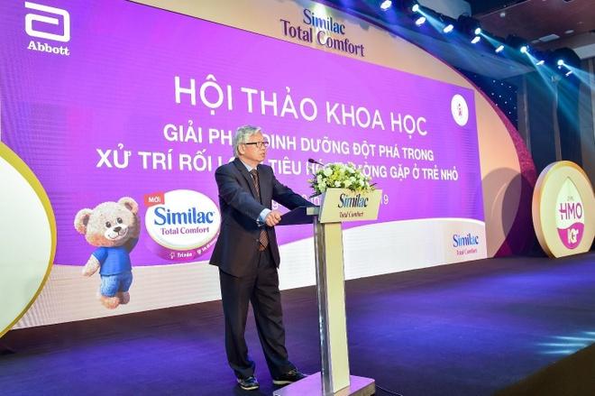 GS. TS Nguyễn Gia Khánh, Chủ tịch Hội Nhi khoa VN, cho biết dinh dưỡng là giải pháp xử lí rối loạn tiêu hóa chức năng.