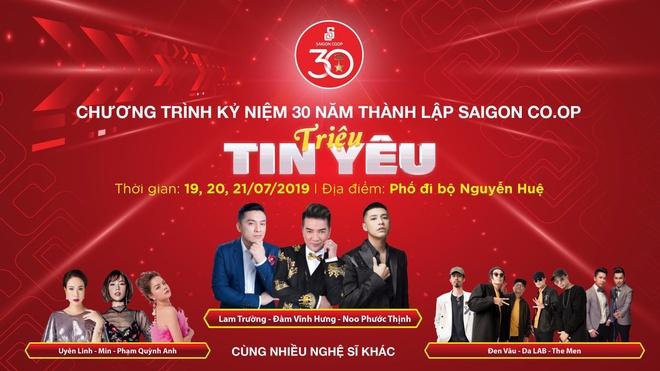 Gap go Dam Vinh Hung, Noo Phuoc Thinh, Den Vau o pho di bo Nguyen Hue hinh anh 1