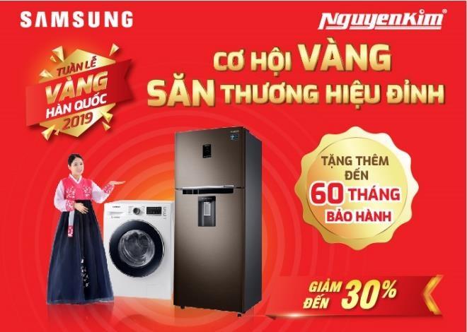 Tu lanh Samsung dat hang trong 'Tuan le vang Han Quoc' tai Nguyen Kim hinh anh 1