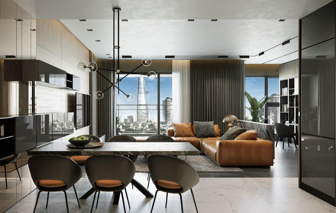 The Grand Manhattan có thiết kế nội thất cao cấp, sang trọng.