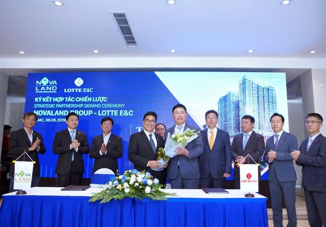 Buổi ký kết chiến lược giữa Novaland và Lotte E&C (Hàn Quốc).