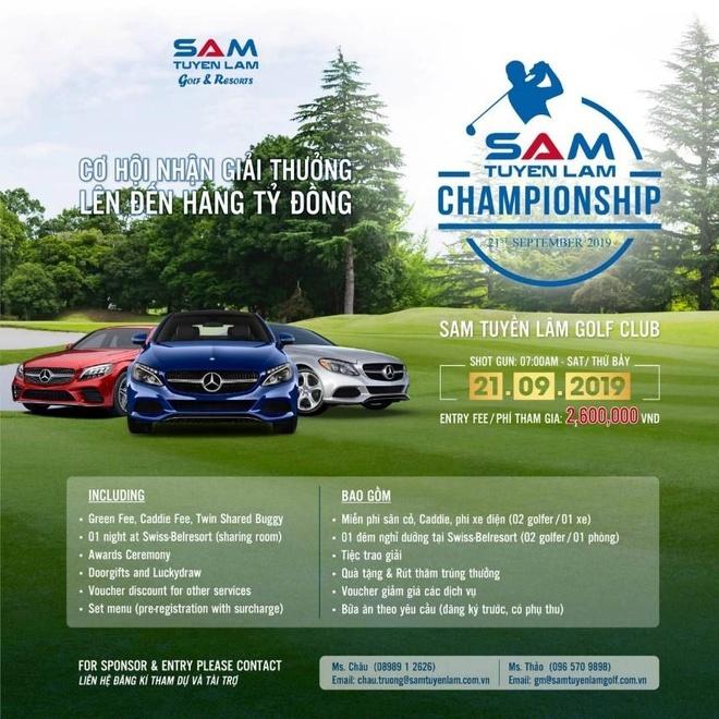 Cung Hoa hau Tieu Vy du giai golf Sam Tuyen Lam Championship 2019 hinh anh 5