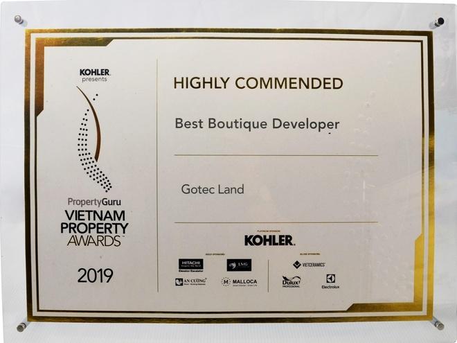 Gotec Land lap cu dup tai 'Vietnam Property Awards 2019' hinh anh 2