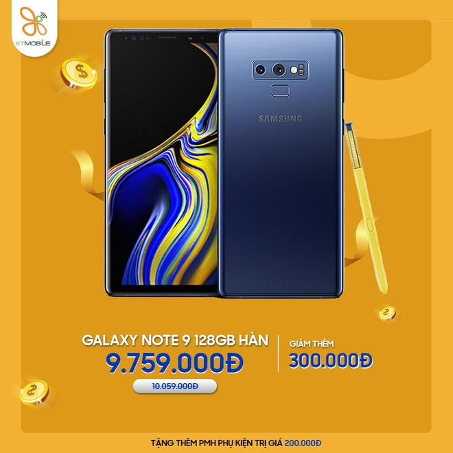 Galaxy Note 9, iPhone 7 Plus giam den 500.000 dong tai XTmobile hinh anh 4
