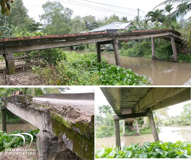 Quỹ Nam Phương hiện thực hóa cây cầu ước mơ của bà con xã Long Thạnh