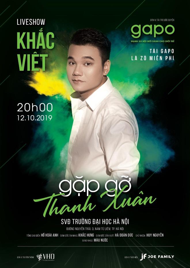 Gapo dong hanh cung Khac Viet trong liveshow 'Gap go thanh xuan' hinh anh 1