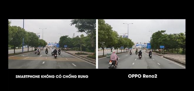 Video - Thu kha nang chong rung vua di xe may vua quay clip Reno2 hinh anh