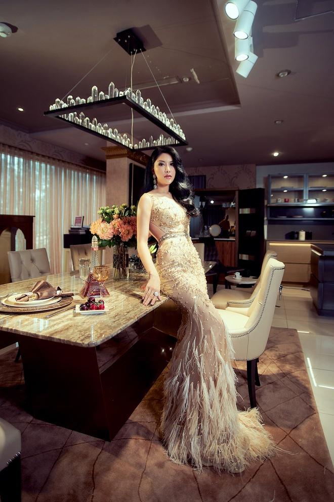 HH Quy ba Loan Vuong 'phai long' khong gian noi that cua An Duong Home hinh anh 1