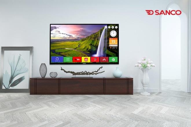 TV Sanco có tính năng smart voice - điều khiển bằng giọng nói ba miền.