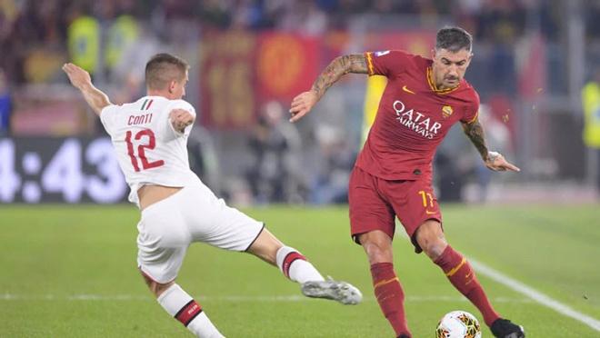 AS Roma gap AC Milan - mo khoa phut 38, ha man bang sieu pham hinh anh 1