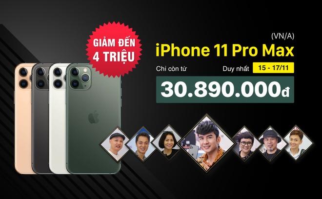 iPhone 11 Pro Max ma VN/A giam 4 trieu tai Di Dong Viet dip cuoi tuan hinh anh 1