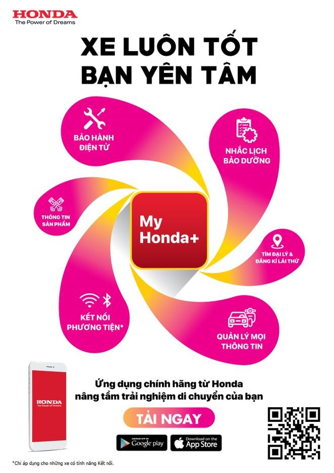 Ung dung My Honda+ ho tro quan ly oto, xe may tot hon hinh anh 5