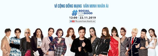 Tran Thanh va dan sao Viet hoi tu tai #SocialForGood hinh anh 1
