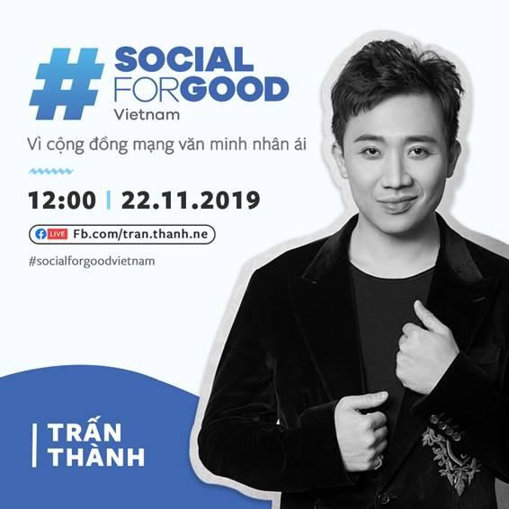 Tran Thanh va dan sao Viet hoi tu tai #SocialForGood hinh anh 2