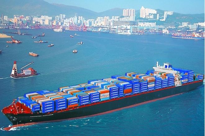 Tàu container có tải trọng lớn.