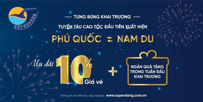 Superdong khai truong tuyen tau cao toc ket noi Phu Quoc - Nam Du hinh anh 2
