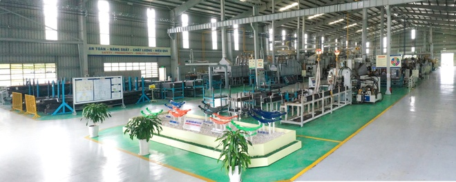 Dây chuyền sản xuất hiện đại là lợi thế để công ty thúc đẩy xuất khẩu nhíp ôtô.