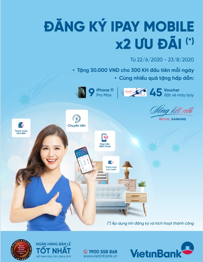 iPay Mobile cua VietinBank anh 1