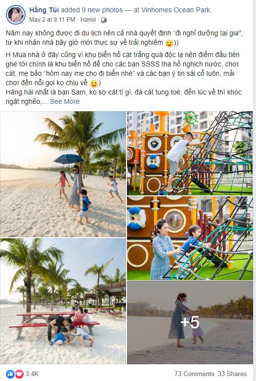 Vinhomes Ocean Park anh 2  - Anh_5 - Tránh dịch, người Hà Nội tận hưởng 'kỳ nghỉ hè ở biển' tại nhà