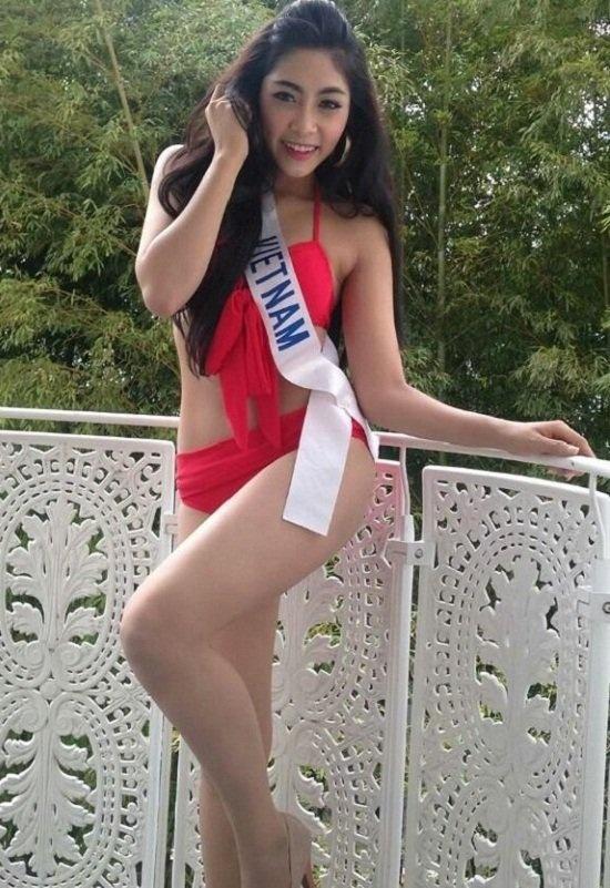 Dang sau thanh tich 'ngheo' cua nguoi dep Viet thi quoc te hinh anh 4 Đặng Thu Thảo tại đấu trường Hoa hậu Quốc tế.