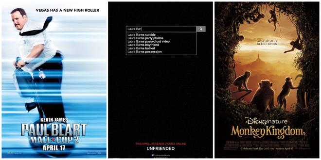 Ba bộ phim mới khó lòng truất ngôi của Fast & Furious 7 trong cuối tuần này.