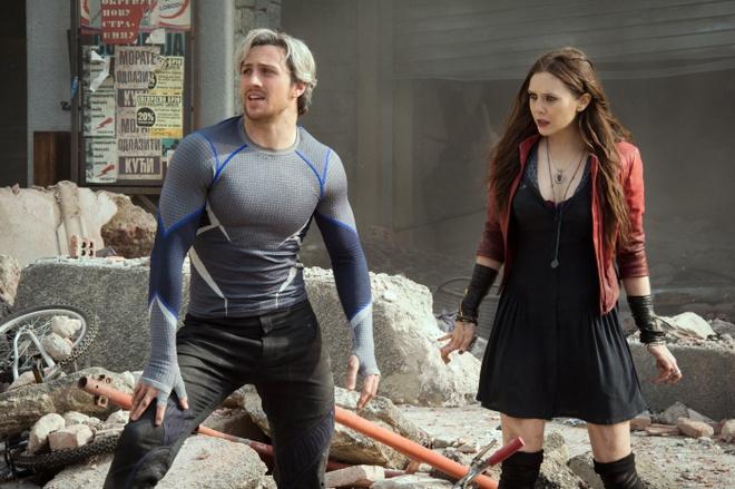 Bom tan 'Avengers 2': Gay can nhung con nhieu tiec nuoi hinh anh 4 Cặp song sinh nhà Maximoff, hay còn có biệt danh là Quicksilver và Scarlet Witch, đem tới luồng gió mới cho thương hiệu bom tấn.