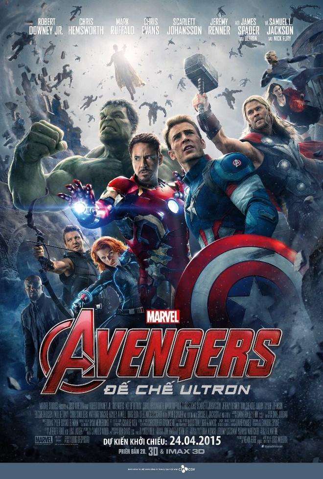 Bom tan 'Avengers 2': Gay can nhung con nhieu tiec nuoi hinh anh 6 Avengers: Age of Ultron (tựa Việt: Avengers: Kỷ nguyên Ultron) khởi chiếu trên toàn quốc từ 24/4.