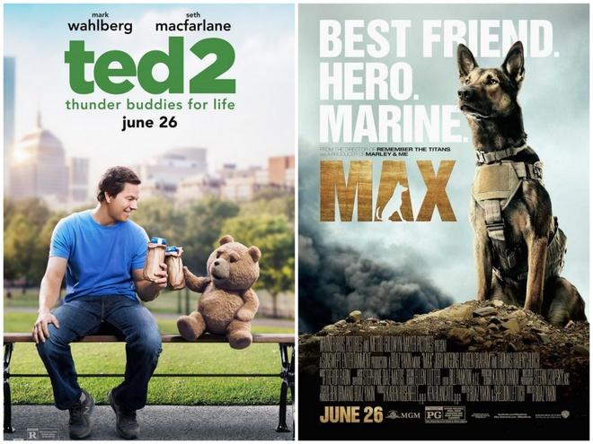 Pixar pha ky luc 'Avatar' nhung van thua 'Jurassic World' hinh anh 2 Ted 2 và Max là hai bộ phim mới tại Bắc Mỹ trong cuối tuần này.