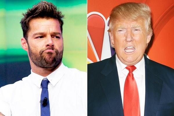 Ricky Martin soi mau vi Donald Trump hinh anh