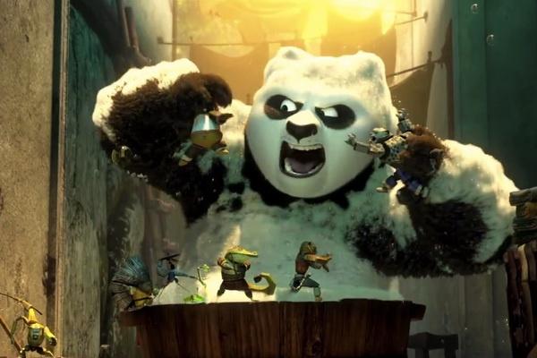 Gau Po doi dau Nguu Ma Vuong trong 'Kung Fu Panda 3' hinh anh