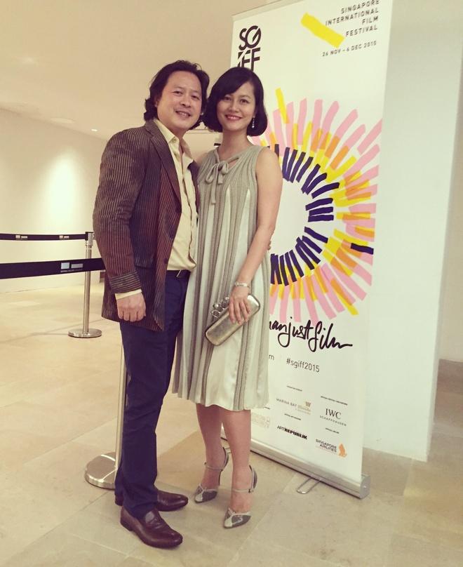 Do Thi Hai Yen cung chong gioi thieu phim tai LHP Singapore hinh anh 1