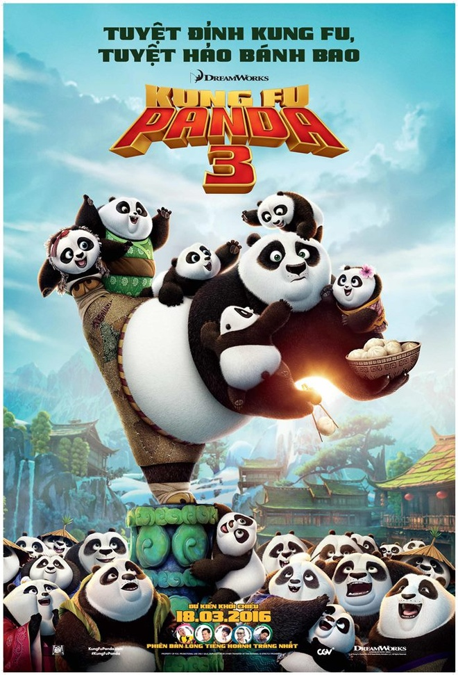 Gau truc Po tiep tuc cuon nguoi xem qua 'Kung Fu Panda 3' hinh anh 1