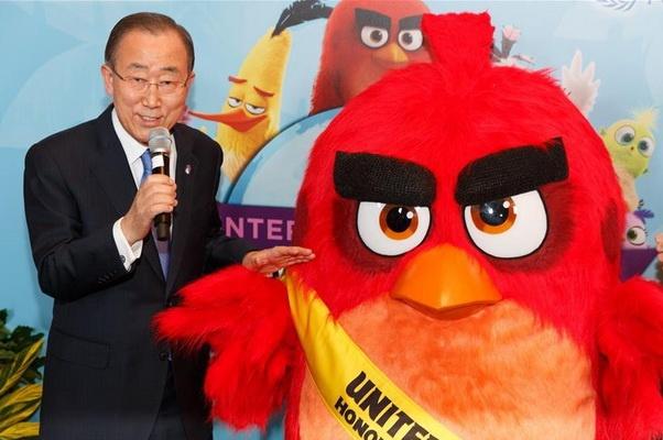 Chim Do trong 'Angry Birds' tro thanh dai su danh du cua LHQ hinh anh